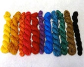 SALE -Mini-skeins yarn - hand-spun yarn - Superfine Merino color Fusion - 2.9 oz total