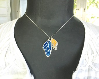 Add-On - Add Another Handcrafted Sterling Silver Butterfly Wing Pendant To Your Necklace - Eco Friendly Recycled Silver