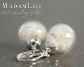 925 Real Dandelion Sterling Silver Earrings