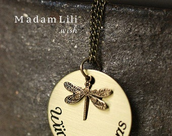 A Necklace with an Inscription 'Make a wish'