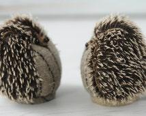 Hedgehog ornament, Mohair OOAK Hedgehog