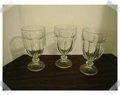 Vintage Glasses/Libbey Duratuff/Set of 3/Home Decor/ Supplies*