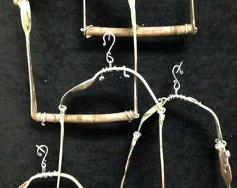 Hummingbird Swing made from silver-plated forks and spoons