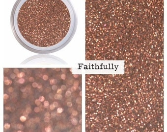 Glitter Makeup | Glitter Eye Shadow Glitter Eyeliner | Golden Bronze Metallic Sparkle Shimmer Shine Glitter Pigment | Glitter Eye Makeup