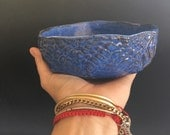 Ceramic Cereal Bowls soup bowls - blue dinnerware ceramic bowls - tableware organic shaped icecream Bowls