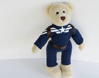 Stealth Steve Rogers, Captain America Bear, altered bear stuffed toy