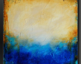 Parchment - 24 x 24 - Abstract Acrylic Painting - Textured Fine Art Contemporary Wall Art Original