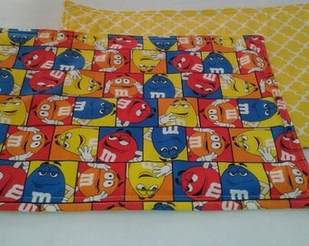 M&M Placemats. Reversible Handmade and machine washable Set of 4