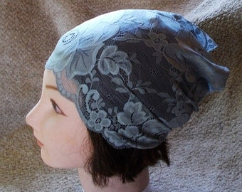 STERLING GRAY Stretch Wide Lace Womens Teen Headband