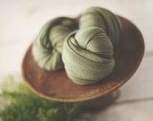 Newborn Stretch Knit Wrap - Newborn Knit Wrap - FERN Green - Stretch Wrap - Stretch Knit Wrap - Photo Prop