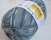 Knitting  yarn, Destash yarn, grey, creme, blue yarn, sock yarn, fingering weight, Y188