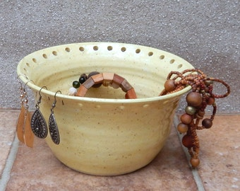 Jewellery earring bowl organise and display your jewelry ceramic pottery handthrown