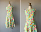 1960s Dress | 60s Dress | Sleeveless Day Dress | 60s Day Dress | Ditzy Floral Print Dress | 60s Scooter Dress