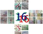 "16  marbled paper, 16 sheets 19.5"" x 27,3"" cm 50 x 70  bulk pack   Bookbinding, carta marmorizzata,. -  161"