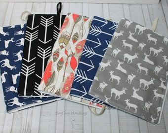 Woodland Changing Pad - Deer - Arrows - Feathers - Your Choice or Custom To Match Your Bag