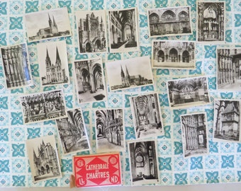 Vintage Chartres Cathedral France Souvenir Real Photos