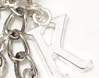 Add on Silver Initial Charm