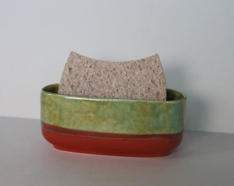 ceramic sponge holder - sunset