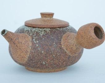 Kyusu teapot. Ash glazed. Handmade.