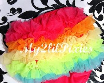 Sale Rainbow Bloomers, Ruffle Bum Baby Bloomers. Baby Girl Bloomers, Newborn Bloomer,Ruffle diaper cover, Ruffle bloomer.cake smash ready to