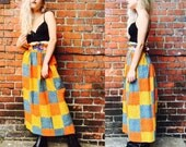 Vintage 1960's Patchwork Maxi Skirt