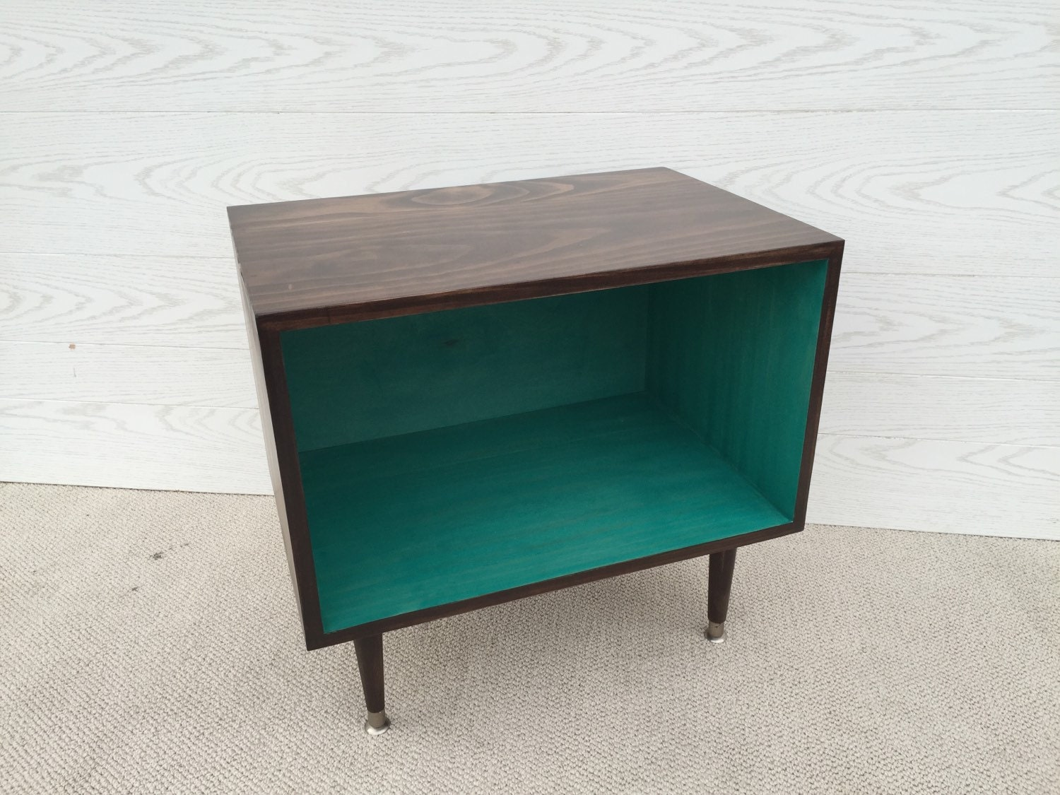 The Wee Record Player Stand Mid Century Modern Record Cabinet