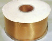 gold 2.5 inch wide double faced satin ribbon roll Wholesale 50 yds wedding gift wrap sewing bridesmaid bridal party sash bouquets weddings