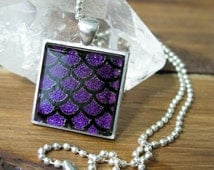 Fused Glass Jewelry, Fused Glass Necklace, Glass Pendant, Dichroic Glass Jewelry, Dichroic Glass Pendant,  Dichroic Glass Necklace