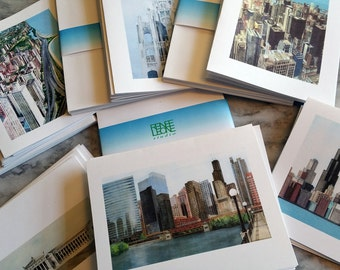 CHICAGO City Scenes Note Cards