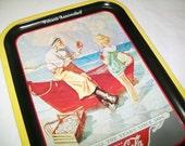 Coke Tray, Nautical, Metal tray, Wyeth painting, 1987