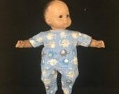 Bitty Baby Bitty Twin Bitty 15 Inch American Boy Doll Baby Elephants Cuddly Elephant Baby Blue Pajamas