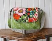 The Primrose Satchel Cross Body Bag in Alexander Henry Floral