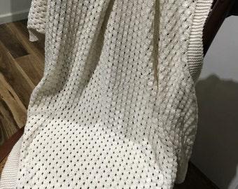 Handknitted Baby Blanket /Shawl