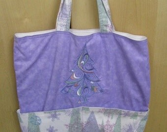 Pastel Christmas Tree Eco Friendly Tote - Shopping Bag