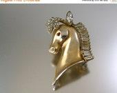 40% Off Vintage Horse Head Brooch with Rhinestones