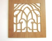 Carved Wood Panel Window Decor Wood Stencil