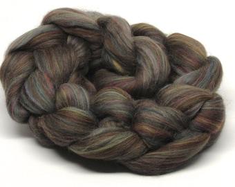 Merino Wool Roving  River Stone Brown 4 ounces