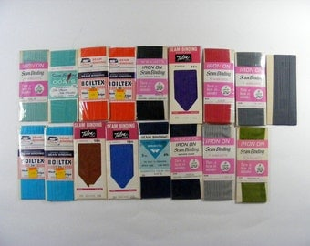 Vintage Seam Binding 17 Packages of Sewing Trim