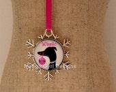 Greyhound Custom Snowflake Ornament