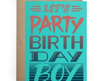 Bday Cards for Him, Birthday Humor Card, Fiance Birthday Card, Party Card, Bday Card, Boyfriend Bday Card