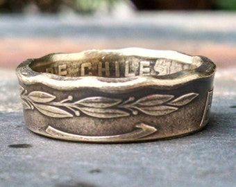 Chile Coin Ring - 1975 Coin Ring - Size: 7