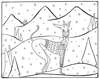 Coloring page - Dog art
