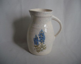 Ceramic Pitcher with Bluebonnet