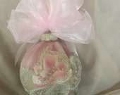 Hand Painted Roses, Christmas Ornament by MontanaRosePainter, Signed. One of a Kind...Item # 357