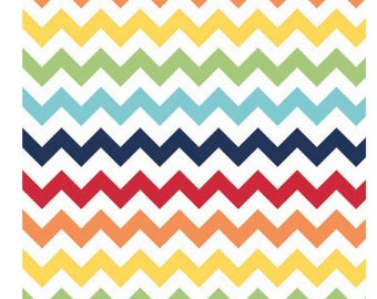 Riley Blake Designs Small Chevron Rainbow by Riley Blake Designs