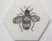 Bee blackwork embroidery kit