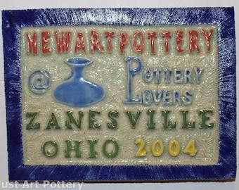 Tim Eberhardt Pottery Newart Pottery Plaque