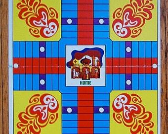 Vintage Board Game Art Wall Home Decor Parcheesi India Taj Mahal.
