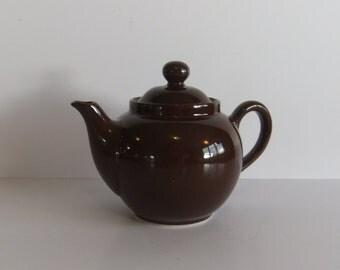 Vintage Tea Pot Teapot - Brown Tea Pot - ACF Italy - Ceramic - Home Decor - Prop