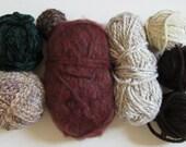 Yarn Destash, Bulky, Scrap Yarn, Assorted Yarn, Chunky Yarn, Leftover Yarn